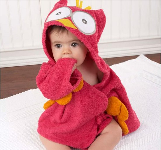 9e2110f622ab 5 Color Baby Boy Girl Dressing Gown Splash Wrap Bath Hooded Towel ...