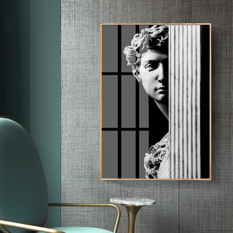 Famous Artistic Plaster Statue David Abstract Canvas Painting Poster And Print For Living Room Aisle Fashion Creative Home Decor in Painting Calligraphy from Home Garden