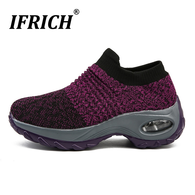 Women's Walking Shoes Breathable Mesh Slip on Athletic Shoes Plus Size Sports Sneakers Running Loafers Tennis Trail Cushion Gym