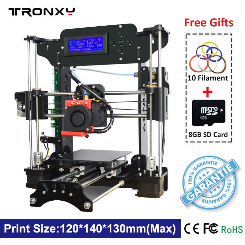 Hot Sale Tronxy 3D Printer High Precision Desktop 3D Printer Kit Reprap i3 DIY Self Assembly LCD Screen Extruder with 8G SD Card anet a6 a8 reprap 3d printer full acrylic assembly diy 3d printer kit with auto sensor 1roll filament sd card filament holder