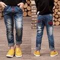 Детская одежда 2016 новый раздел осень/зимние модели плюс бархат утолщение мальчик джинсы дети брюки большой ребенок trous