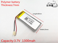 3.7V 1300mAh 702560 Lithium Polymer LiPo Rechargeable Battery ion cells For Mp3 Mp4 Mp5