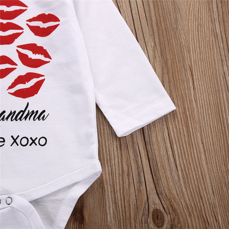 Long Sleeve Baby Cotton Clothes One Piece Bodysuit Lips Printing Baby Boy Girls Clothes  Outfits