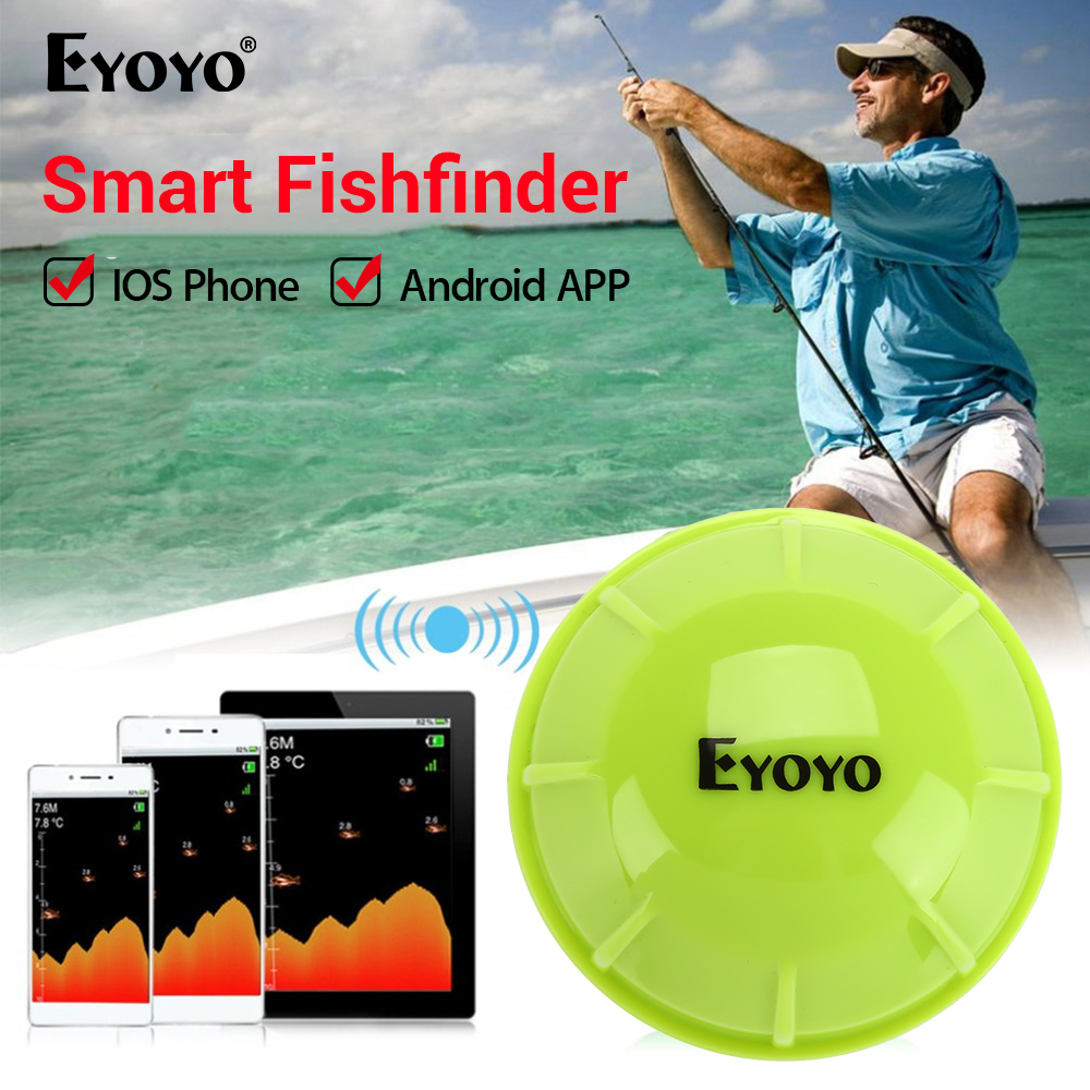 Eyoyo E1 Sondadores Sonda De Pesca Portátil para pesca Inteligente Bluetooth Sem Fio Sonar fish finder deeper sondeur peche