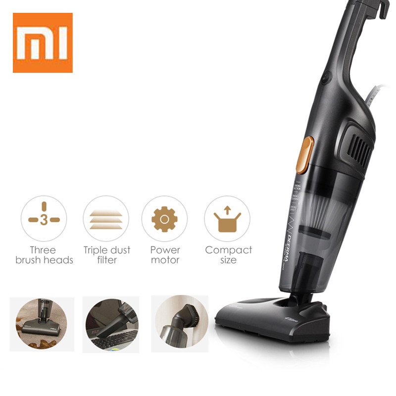 Xiaomi Deerma DX128C small Hand held vacuum cleaner portable home vertical vacuum cleaner large capacity mute|Vacuum Cleaners|   - AliExpress