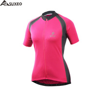 ARSUXEO 2017 Outdoor Sports Women Cycling Jersey Short Sleeves Summer Bike Bicycle MTB Clothing T Shirts