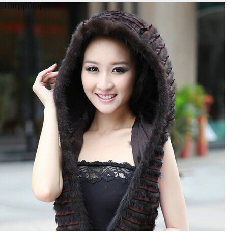 Free Shipping New Geniune Real Mink Fur Hat Luxury Women Scarves Winter Handmade Knitted Natural Mink Fur Hat Scarf Female cx c 60 genuine mink fur hat snood drop shipping