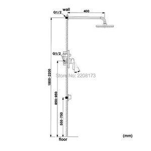 Image 5 - Smesiteli מודרני עופרת משלוח SUS304 מגופים הרכבה 8  12 מקלחת גשם & Handshower מערכת מקלחת סט מוברש נירוסטה