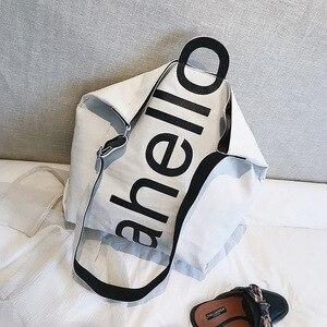 Image 5 - Grand sac à main en toile pour femmes, fourre tout, Portable, grande capacité, tendance pour femmes, nouvelle collection 2018