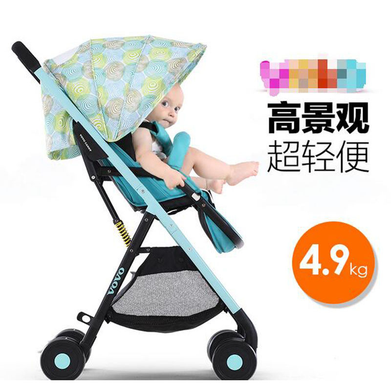 baby cart high lying landscape Lightweight umbrella folding baby Stroller baby laying and sit outdoor travel Stroller  VOTC-3 twin stroller high landscape can lay the portable folding baby cart