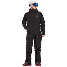 Зимний лыжный костюм для мужчин, цельный зимний комбинезон для горных лыж, водонепроницаемые толстые теплые куртки для сноуборда, штаны для сноуборда