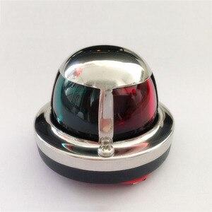 Image 1 - Kırmızı Yeşil LED navigasyon ışığı 12 V tekne Yat Paslanmaz Çelik Iki Renkli Yelkenli Sinyal Lambası