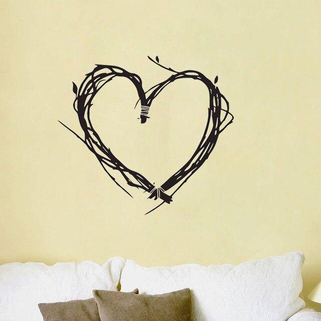 ZOOYOO Valentine\'S Day Heart Wall Stickers Tree Twigs Vinyl ...