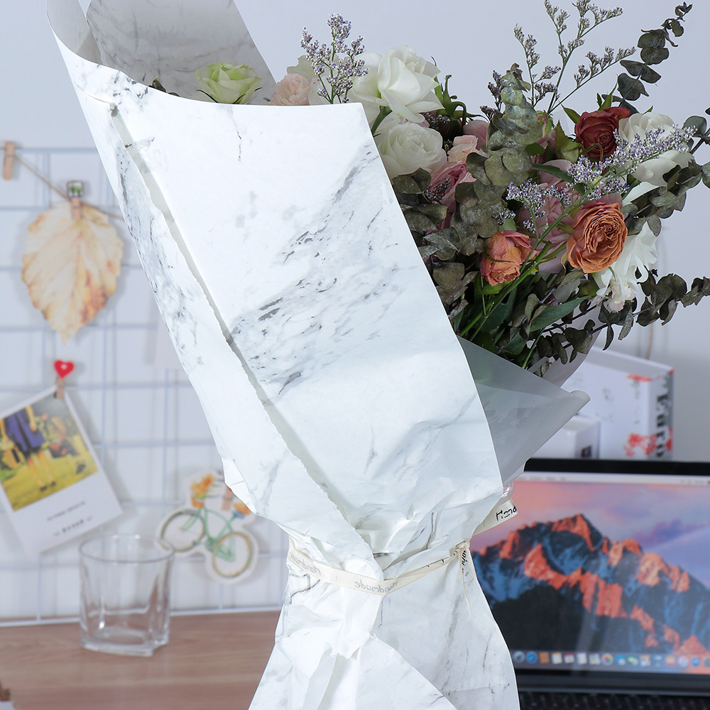 Beautiful Marble Pattern Wrapping Paper Handmade DIY