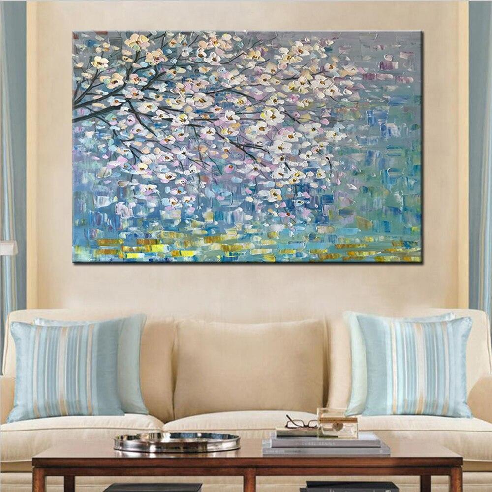 Mintura ручная роспись цветы и дерево Рисование современные картины маслом на холсте настенные картины для гостиной домашний Декор без рамки - Цвет: MT161078
