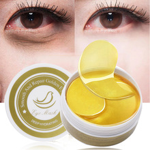 EFERO 60pcs Gold Crystal Collagen Eye Mask Patches Masks Dark Circles Moisturizing Face Remove