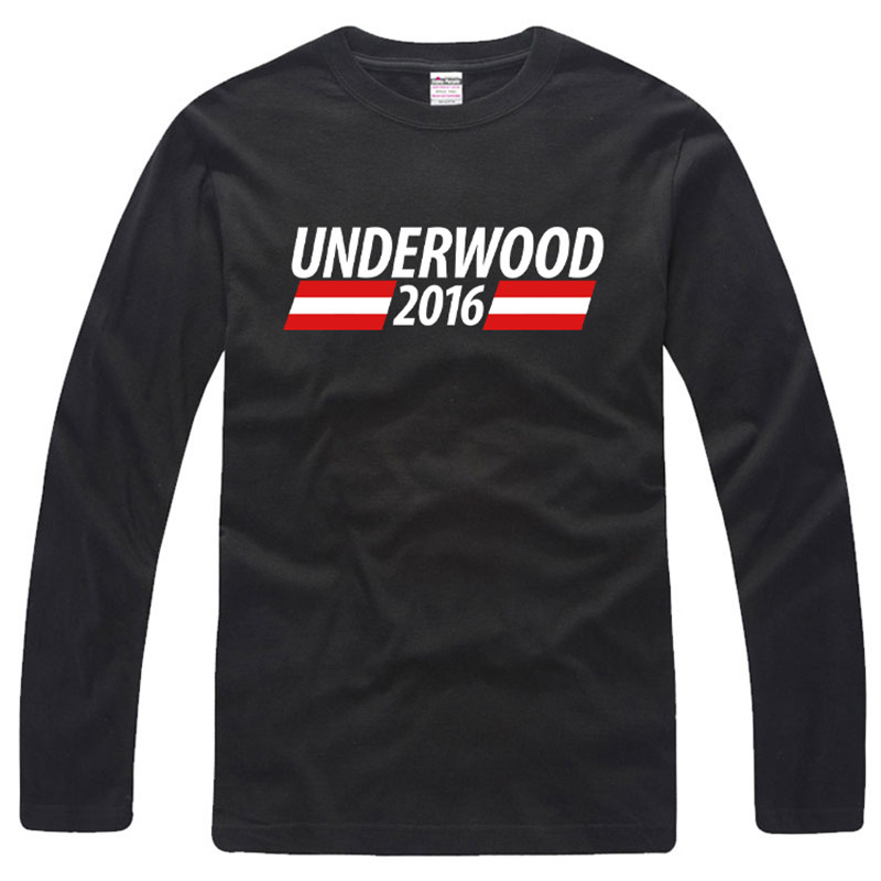 Card House House of Cards Frank J. Underwood 2017 New Summer T shirt Mens Long Sleeve T-Shirt Cotton Fashion T-Shirts