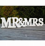 Wooden Mr & Mrs LETTERS tall letters DIY, painted or glitter sign Mr and Mrs. Wedding table decoration.