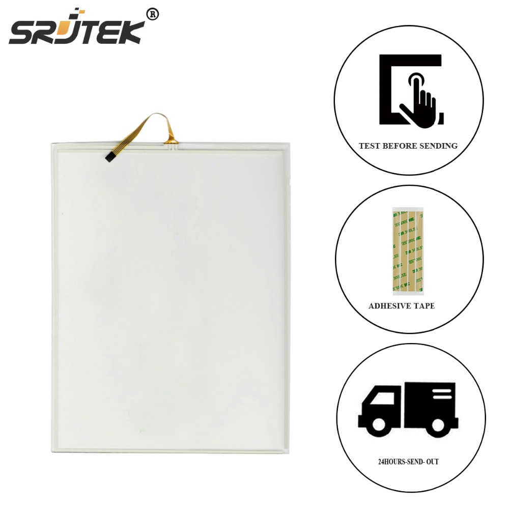 Srjtek 100% New 4 Wire 10.4 inch Touch Screen For  N010-0554-X225/01 Panel Replacement 228*175mm new touch screen glass 10 4 inch 22 8cm 17 5cm n010 0554 x225 01