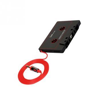 2019 nowy samochodowy Audio kaseta magnetofonowa adapter konwerter 3 5 MM adapter do kaset do telefonu MP3 AUX CD tanie i dobre opinie plastic Black tape converter RV77