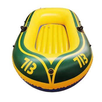 Прочный 1-2 человек надувная лодка ПВХ Гребная лодка Комплект 175x115 см с веслами насос Patching комплект и веревка двойная рыболовная лодка