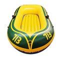 Duurzaam 1-2 Persoon Opblaasbare Boot PVC Roeiboot Set 175x115 cm met Peddels Pomp Patchen Kit en Touw Dubbele Vissersboot
