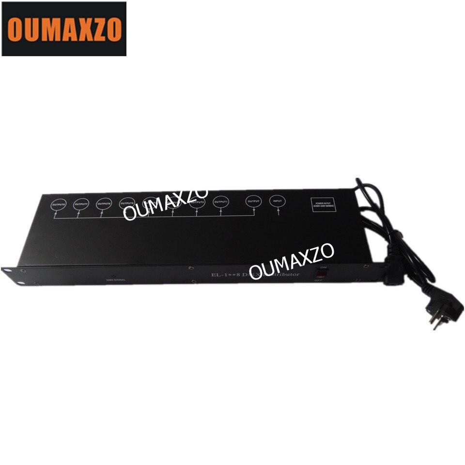 8CH DMX Splitter DMX512 Light Stage Lights Signal Amplifier Splitter 8 way DMX Distributor
