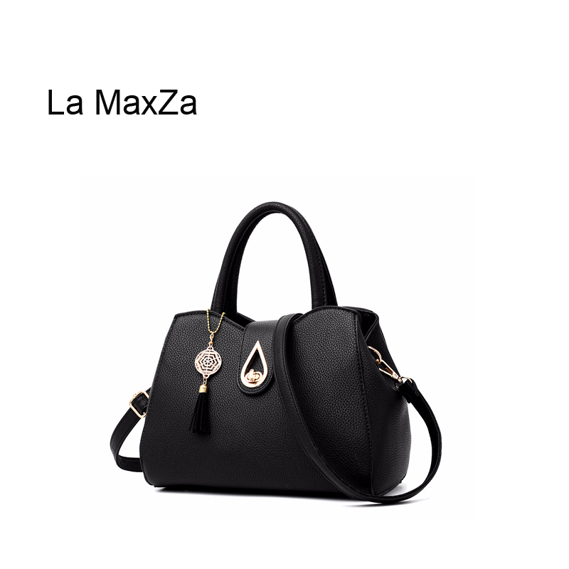 La MaxZa High Quality PU Leather Fashion Women Zipper Purses and Handbags Shoulder Bag Large Ladies Tote Bag Top Handle SatchelLa MaxZa High Quality PU Leather Fashion Women Zipper Purses and Handbags Shoulder Bag Large Ladies Tote Bag Top Handle Satchel