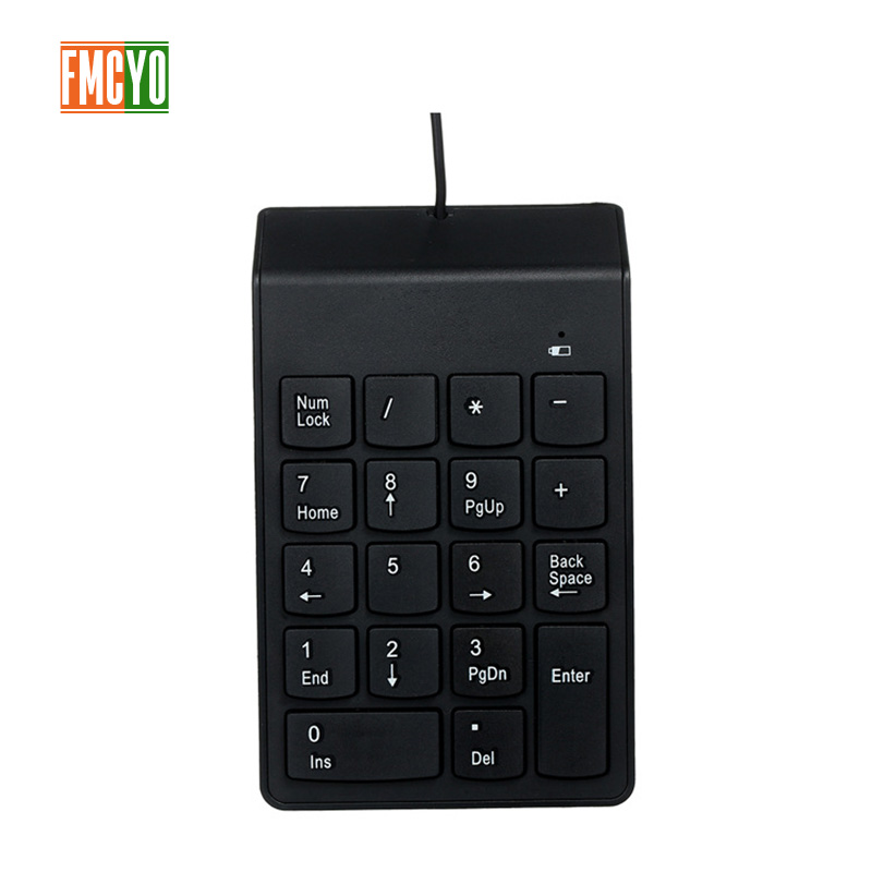 USB Cable Numeric Keypad Bank Financial Accounting Payment Portable 18 key Password Numeric Keypad-in Keyboards from Computer & Office
