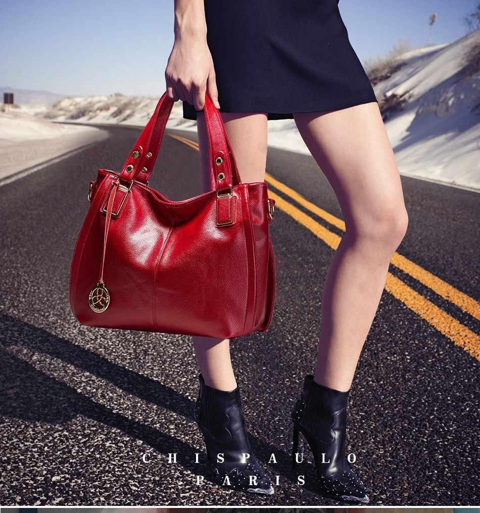 Женская сумка-мессенджер CHISPAULO, винтажная сумка-мессенджер из натуральной воловьей кожи высокого качества, X21