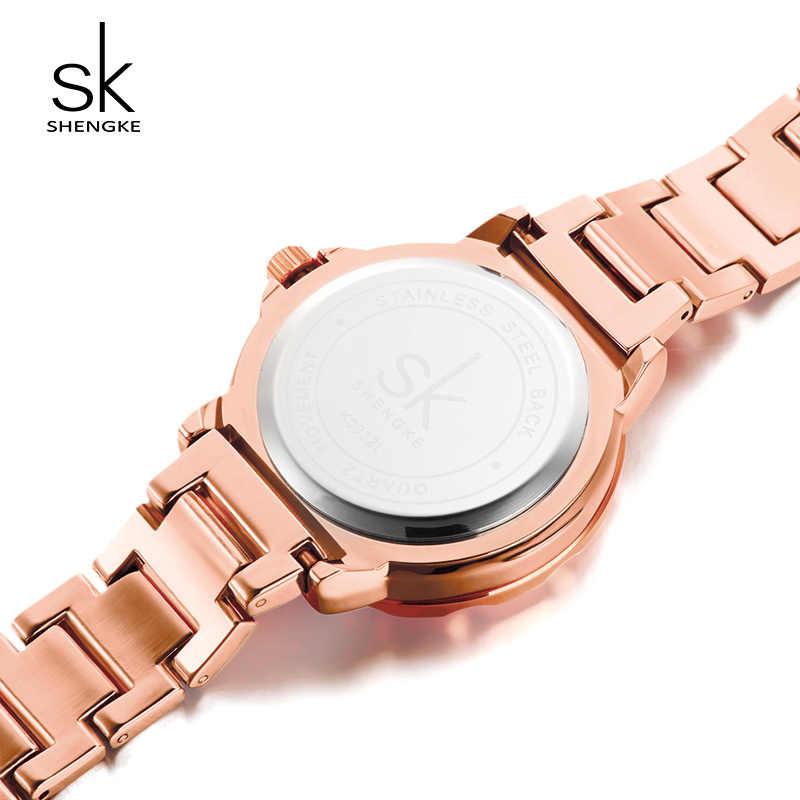 e22bbb4b875e ... Shengke Luxury Quartz Watch Women Ladies Stainless Steel Bracelet  Watches Reloj Mujer 2019 SK Rose Gold ...