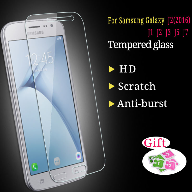 0.3mm 9H Tempered Glass For Samsung Galaxy J1 J2 J3 J5 J7 2015 2016 Explosion Proof Anti Shatter Glass Screen Protector Film