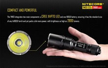 Nitecore TM03 4*CREE XHP70 LEDs Tactical flashligh 2600LM with IMR18650 Battery for Hunting Fishing Not