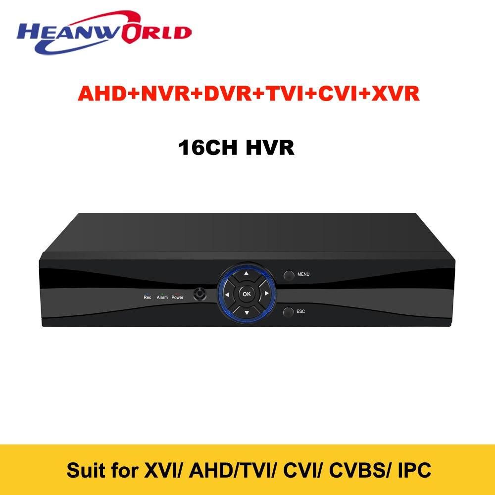 CCTV DVR HVR 16CH AHD NVR 2MP 1080 P Lai Video Kỹ Thuật Số ghi RS485 Âm Thanh trong audio out cho Mạng IP Camera CCTV máy ảnh