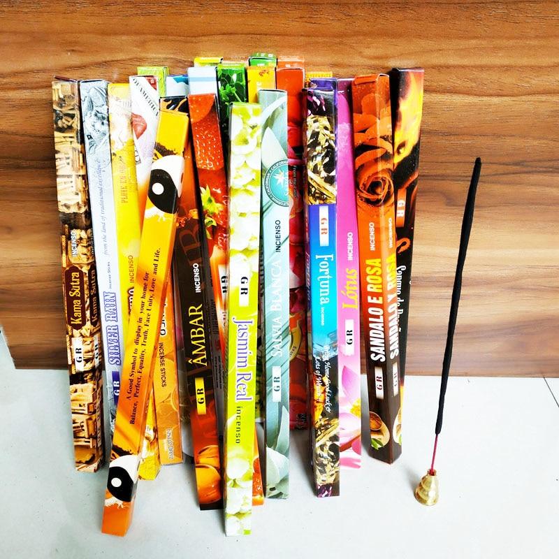 F 7stick/box Authentic Indian Incense Sticks Natural Lavender Sticks Handmade Joss Sticks Tibetan Sandalwood Scents For Home