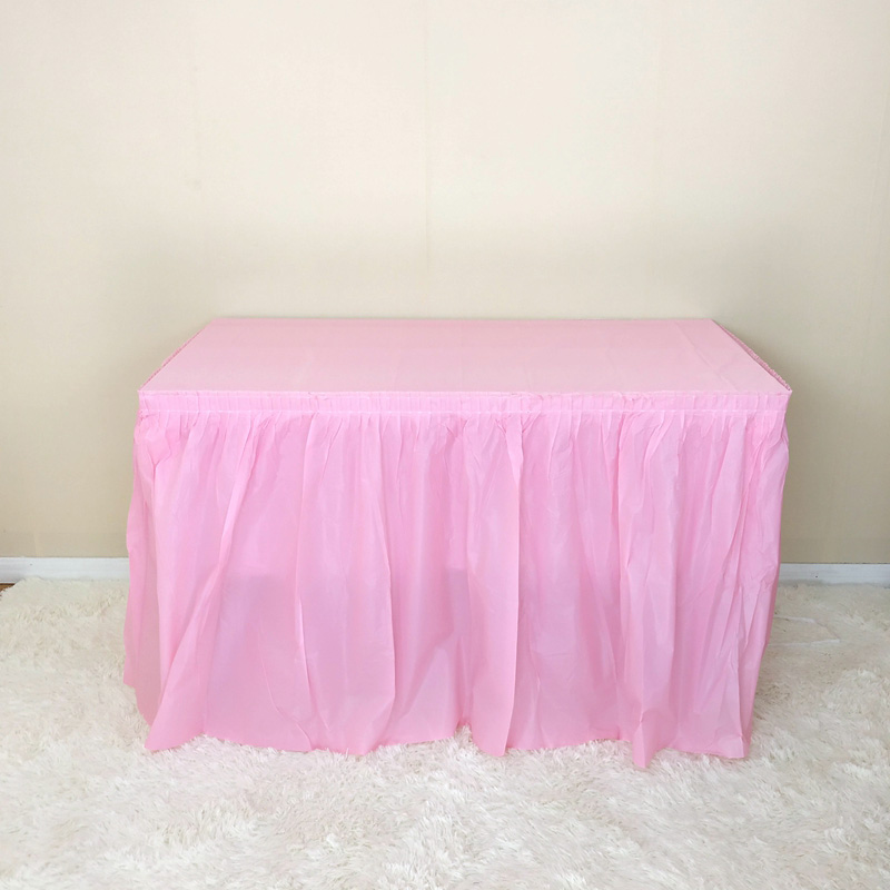 HAZY Disposable Table Skirts For Wedding Decoration DIY Birthday Party Tulle Home Decor Handmade Artwork Material