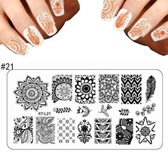 New Nail Art Fashion Set Art Stencil Lace Flower Pattern Nail ...