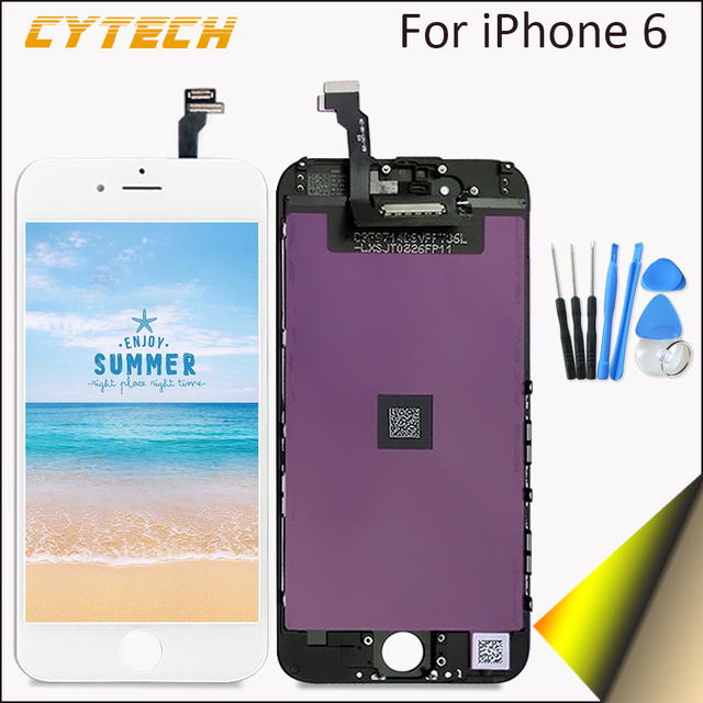 AAAA High Quality No Dead Pixel Display For Apple iPhone 6 LCD Touch Screen Replacement With Digitizer 4.7 inches White Black