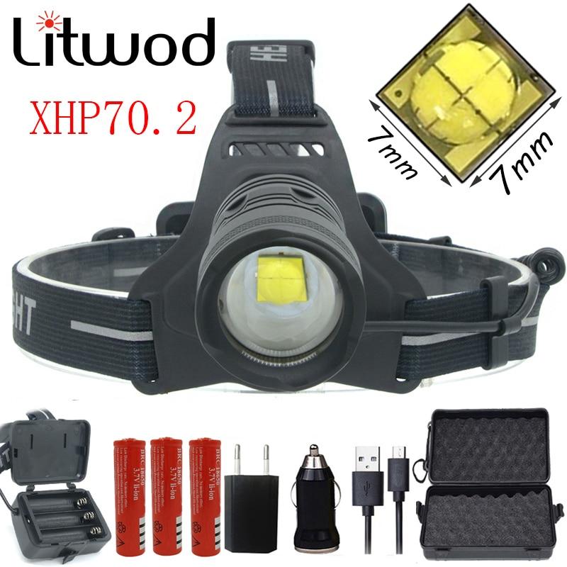 Completo $23-4 Z20 2808 32 W Original XHP70.2 de faro Led faro 42920lm poderosa cabeza de lámpara de flash zoom en la cabeza de la luz de la linterna