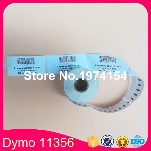 60*Rolls Dymo 11356 Label 41mm x 89mm Compatible Etiketten for LW450 (Also Supply Dymo 11356 99013 99014 11354)