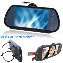 7′ Inch LCD Car Rear View Mirror Monitor Backup Parking Sensor for MP5 / DVD/TV Screen for Parking Assistance System