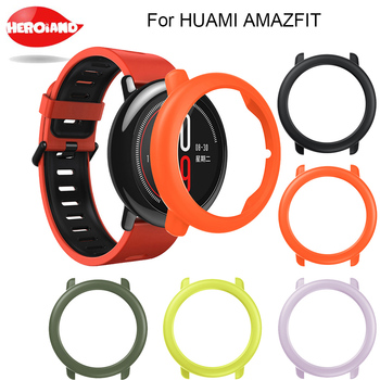high quality Slim Frame Colorful PC Case Cover Smart Watch Fashion Slim Frame Cover Protect Shell For HUAMI AMAZFIT smartwatch soft slicone protective case cover protector frame shell colorful slim for huami amazfit verge watch accessories