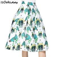 12 OAKS OF KATY S To XXL High Waist Puff Hem A Line Skirt Women Fashion