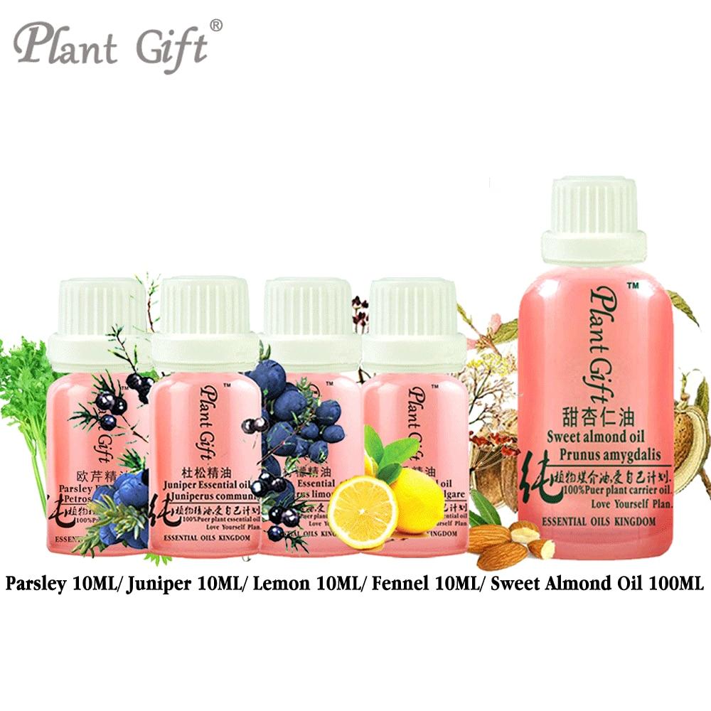 Free Shopping 100% Pure Plant Essential Oils Parsley / Juniper / Lemon / Fennel / Sweet Almond Oil Antibacterial, Antispasmodic cecily parsley s nursery rhymes
