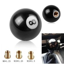 Car Gear Shift Knob Ball 8 Billiard Shape Universal Manual Lever Stick Shifter Resin Black Lever Replacement Parts personalized hat skull shape resin gear shift knob silver grey