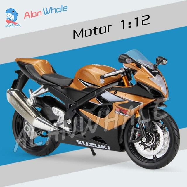 112 Neues SUZUKI GSX R1000 Metall Diecast Modell Motorrad Racing Autos Spielzeug