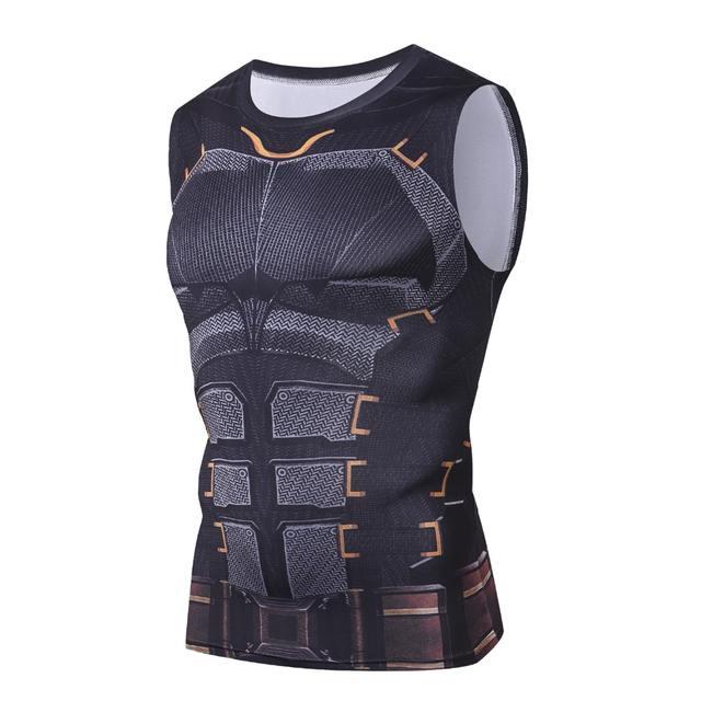 Bodybuilding 3D Batman Spiderman Thor Hulk Winter Soldier Thanos Anime G ym Tank Top Men Tshirt Fitness Clothing Singlet Tanktop