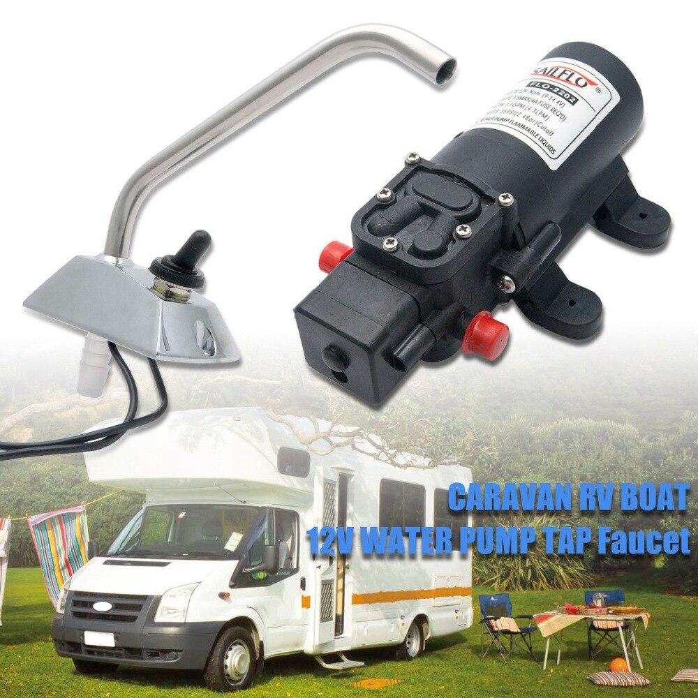 Robinet de pompe à eau électrique 12 V Sailflo auto-amorçante/robinet bateau/caravane RV