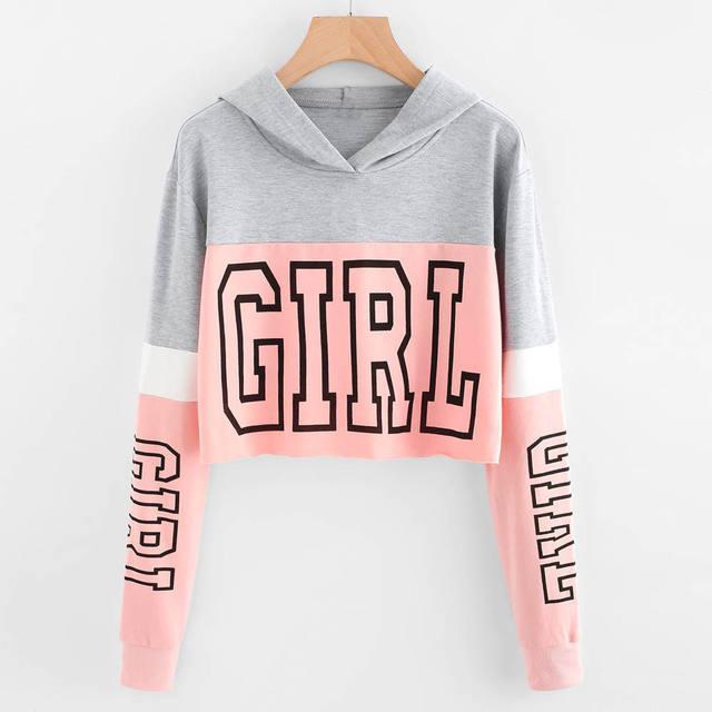 GIRL CROP TOP HOODIE (3 VARIAN)