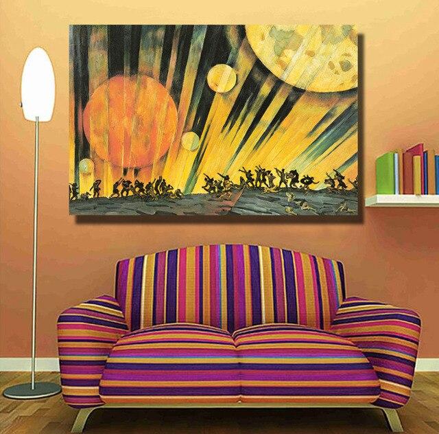 HDARTISAN Surrealistic Stil Salvador Arbeitet Leinwand Kunst Objekten Wand  Bilder Für Wohnzimmer Malerei Wohnkultur Gedruckt